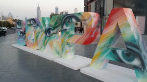 Painted Installation for Box Park Dubai. April 2015