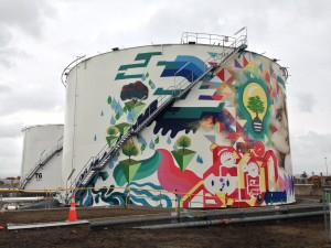 15x30m project in Tauranga. Artists: Cut Collective - Trust Me / Component / Enforce One / Wert159. Client: Gull. April 2013